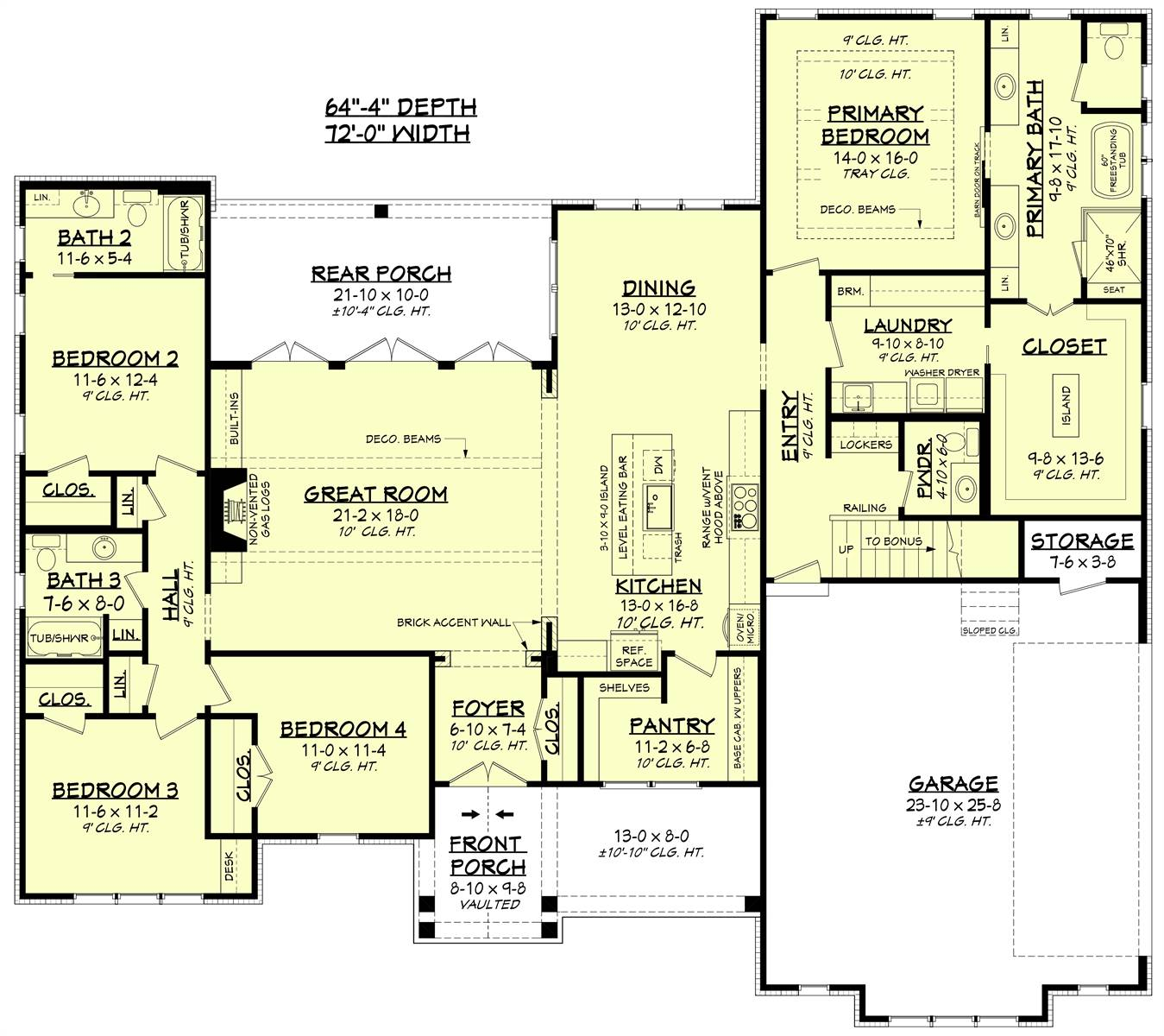 1st Floor image of Morning Trace House Plan