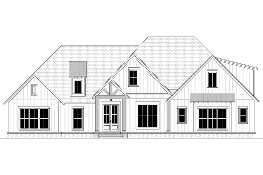 Front View image of Morning Trace House Plan