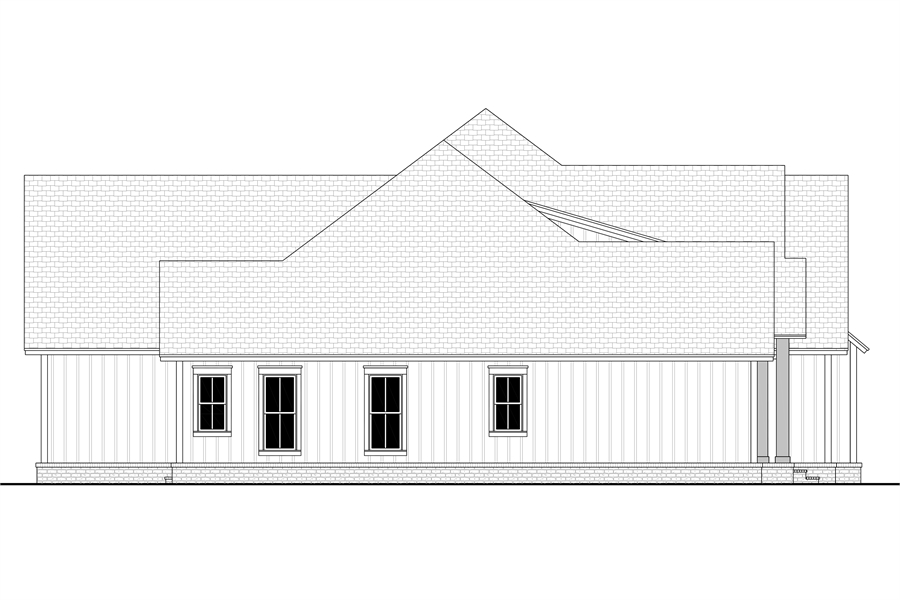 Left View image of Morning Trace House Plan