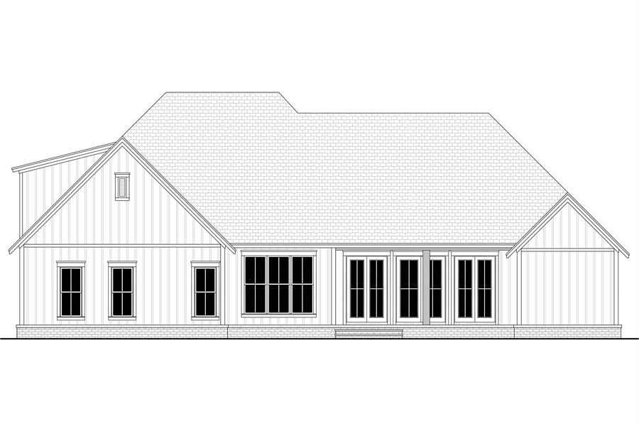 Rear View image of Morning Trace House Plan