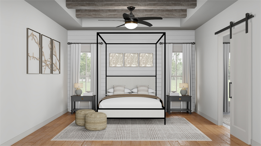 Master Bedroom image of Morning Trace House Plan