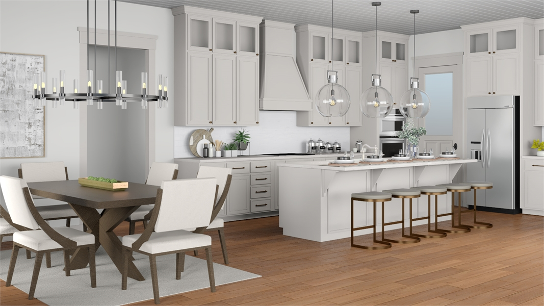 Kitchen Featuring KitchenAid® & Carlisle Wide Plank Floors® image of Morning Trace House Plan