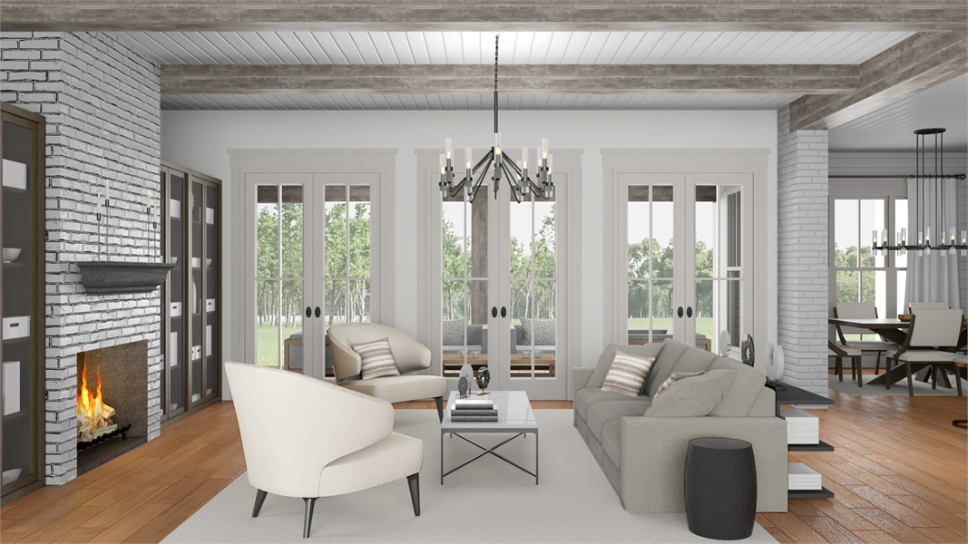 Great Room image of Morning Trace House Plan