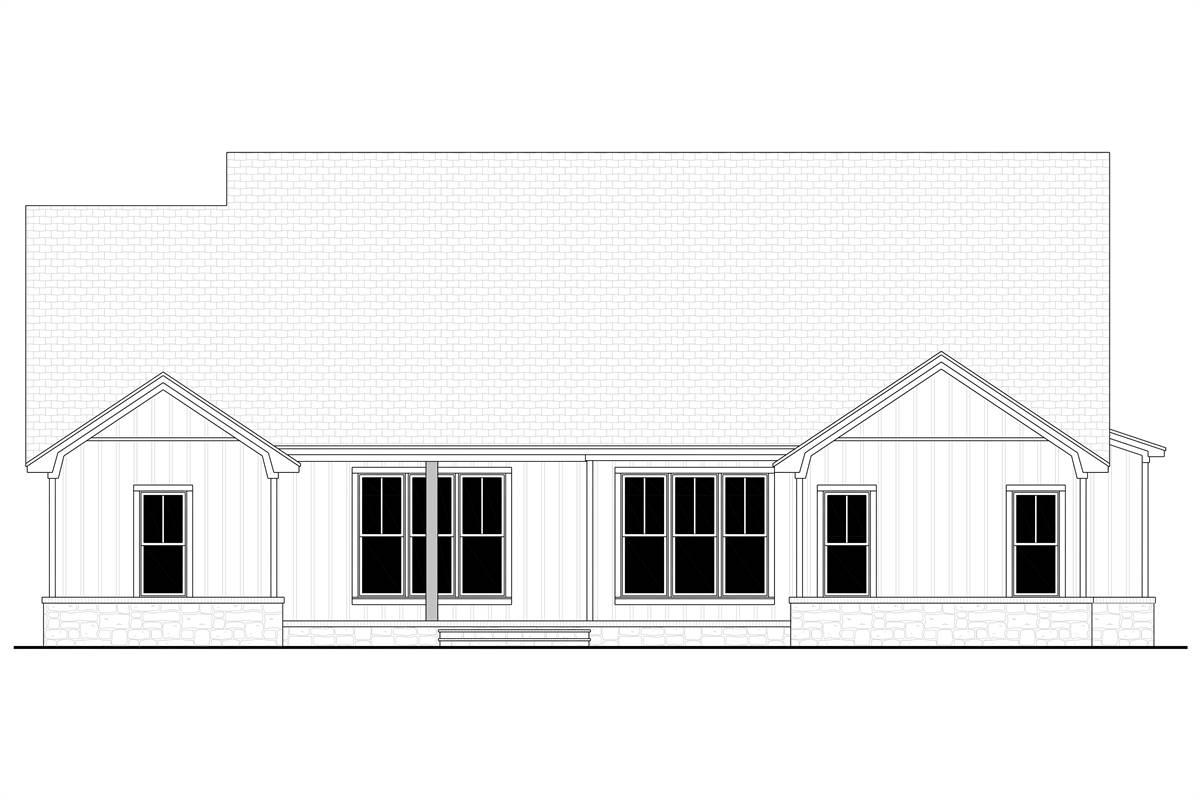 Rear View image of Richmond Avenue House Plan
