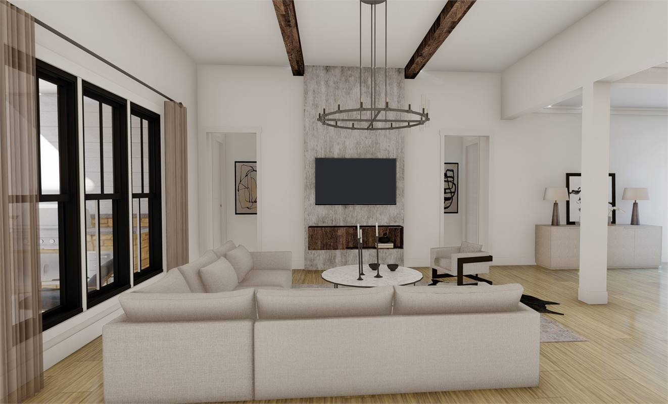 Great Room image of Richmond Avenue House Plan