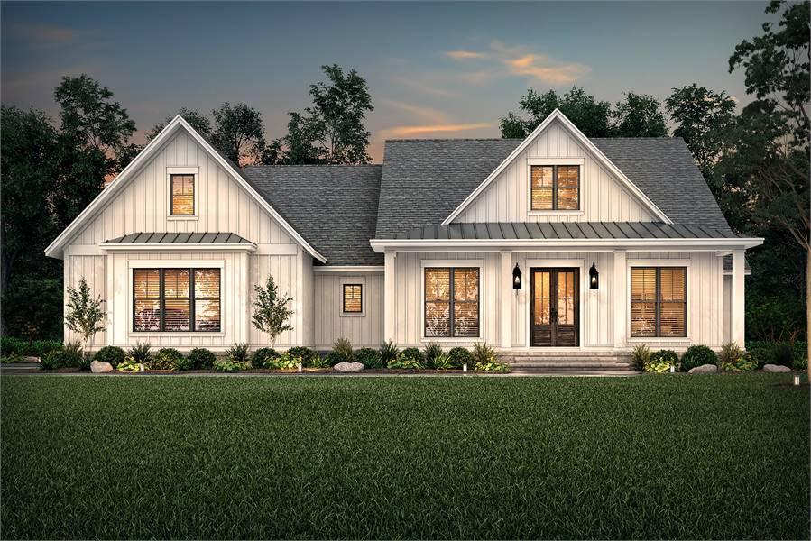 Front Rendering image of Walden House Plan