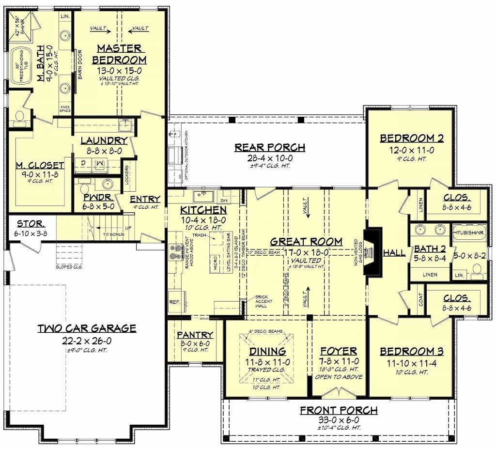 First Floorplan by DFD House Plans