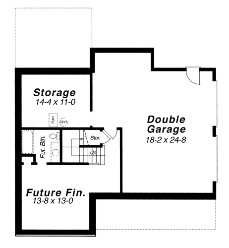 Lower Level image of Lancaster House Plan