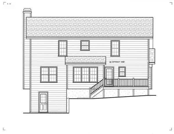 Rear Elevation image of Lancaster House Plan