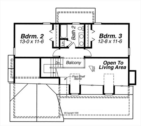 Second Floor image of Lancaster House Plan