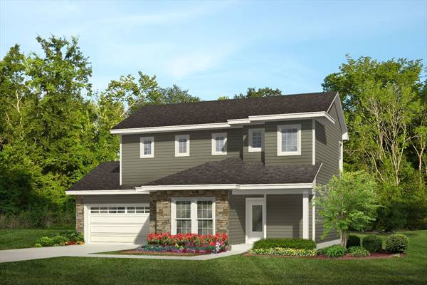 Front Elevation Opt. B by DFD House Plans