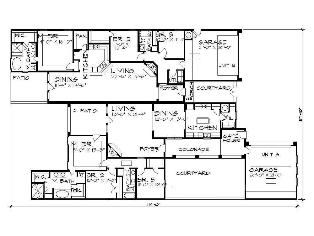Duplex Plan 5197