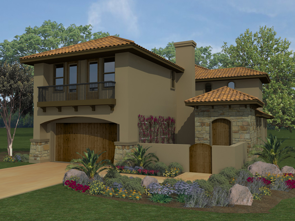 Mediterranean house plan with 4 bedrooms and 2 5 baths for Mediterranean home plans with courtyards