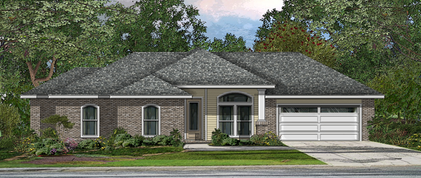 Front View Opt. B by DFD House Plans