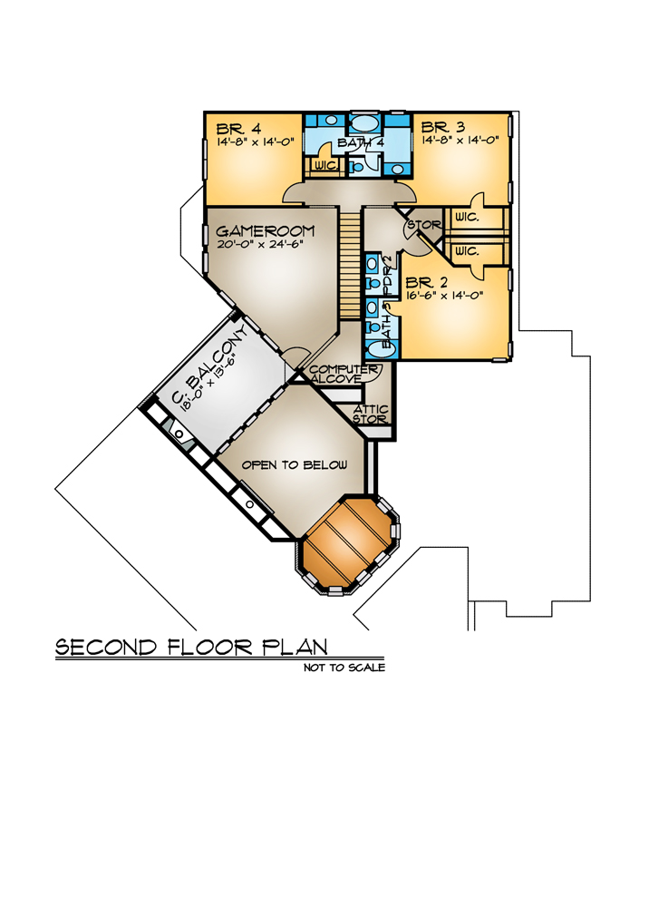 Mediterranean House Plan with 4 Bedrooms and 5.5 Baths - Plan 4262 on single story house plans, angled house plans, golf course view house plans, river front house plans, corner house plans, mountain view house plans, high rise house plans, tri level house plans, bright house plans, canal front house plans, state house plans, panoramic view house plans, new construction house plans, zero lot line house plans, city home house plans, handicapped access house plans, small shack plans, waterfront house plans, boat dock house plans, basement house plans,