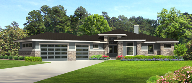 Front Elevation image of THE DEVEREAUX C House Plan