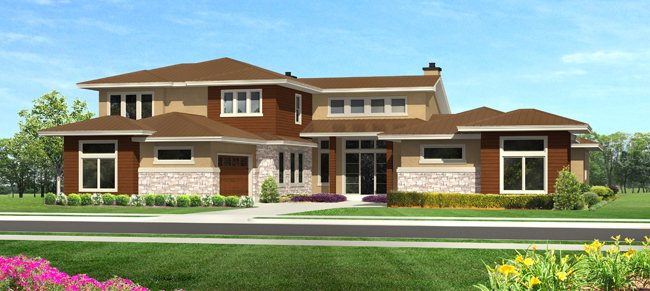 Front Elevation image of THE SIENNA House Plan
