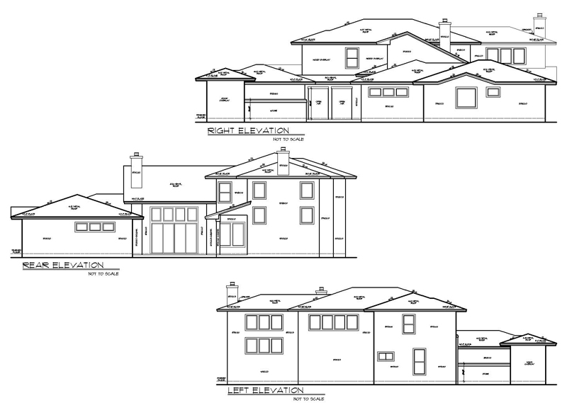 Rear and Side Elevations image of THE SIENNA House Plan