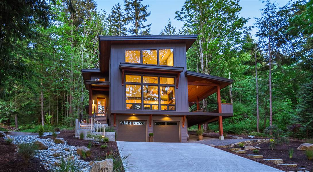 Contemporary Drive Under with Incredible Master Suite