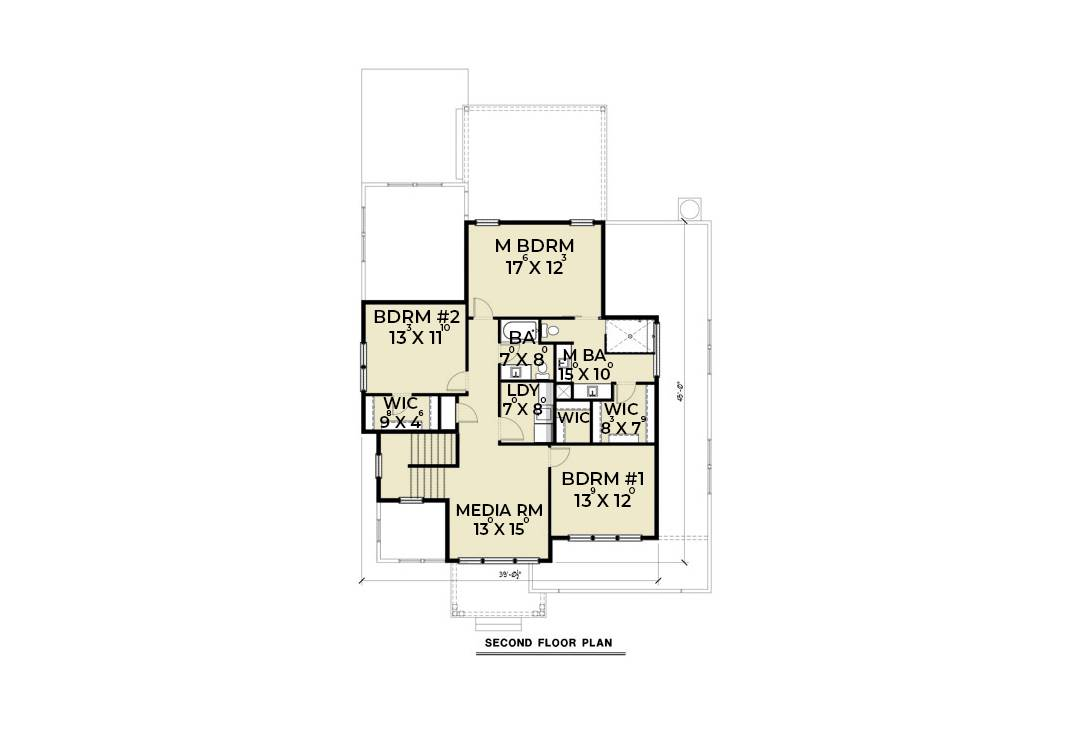 2nd Floor image of Contemporary 205 House Plan