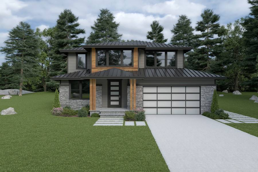Front View image of Contemporary 205 House Plan
