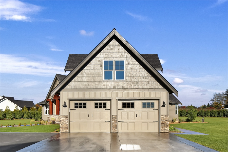 Garage View by DFD House Plans