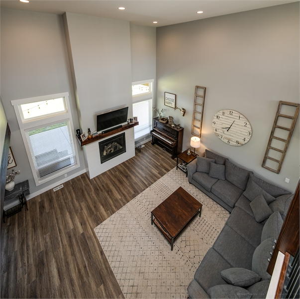 Loft view to Living Area by DFD House Plans