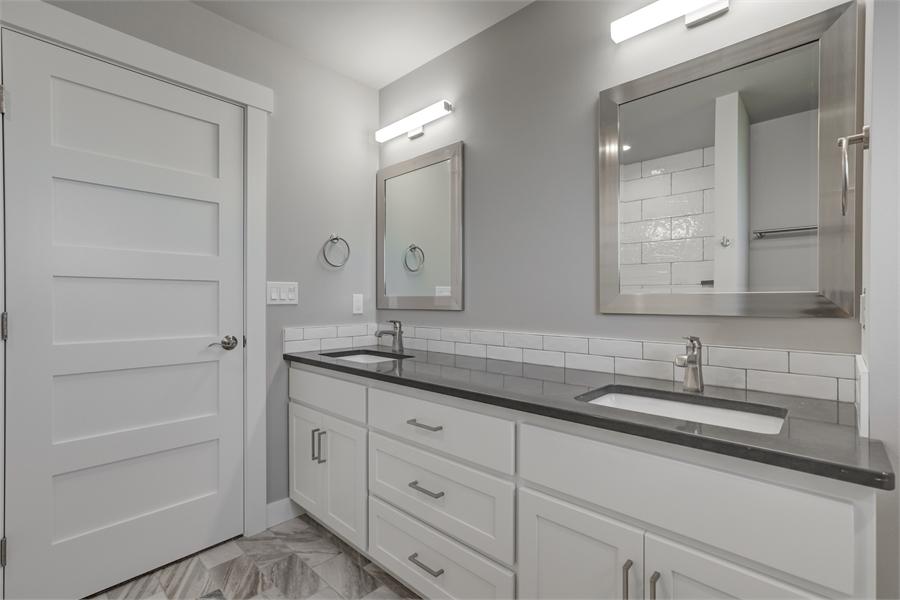 Second Floor Bathroom image of Cont. Farmhouse 819 House Plan