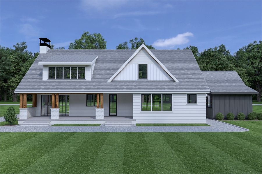 Front View - Attached Garage image of Roxbury Cottage House Plan