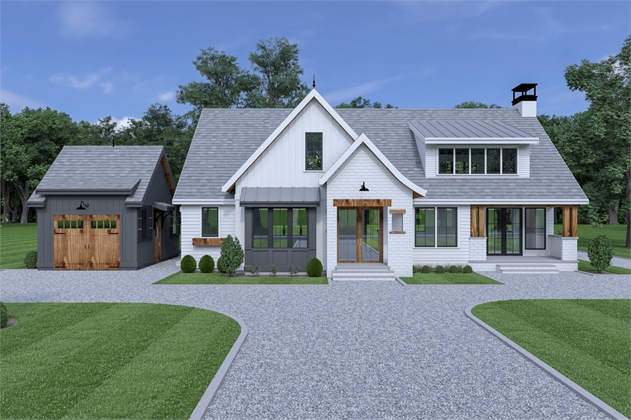 Front View image of Roxbury Cottage House Plan