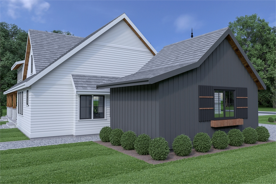 Attached Garage image of Roxbury Cottage House Plan