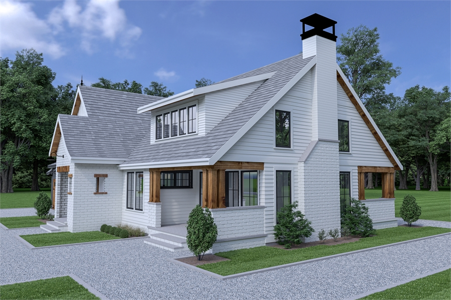 Side View image of Roxbury Cottage House Plan