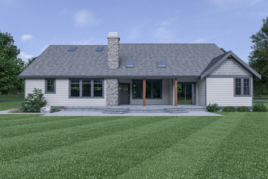 Rear View image of Northwest 602 House Plan
