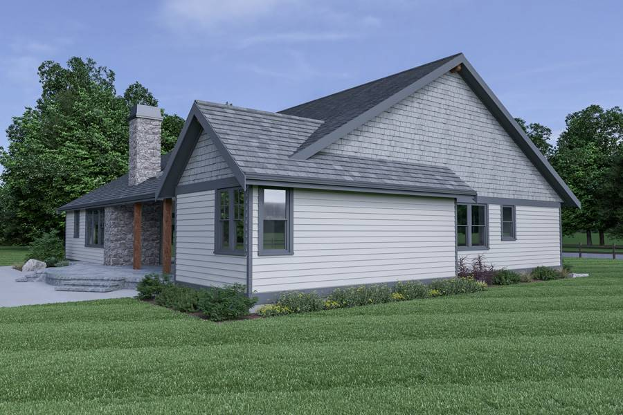 Left View image of Northwest 602 House Plan