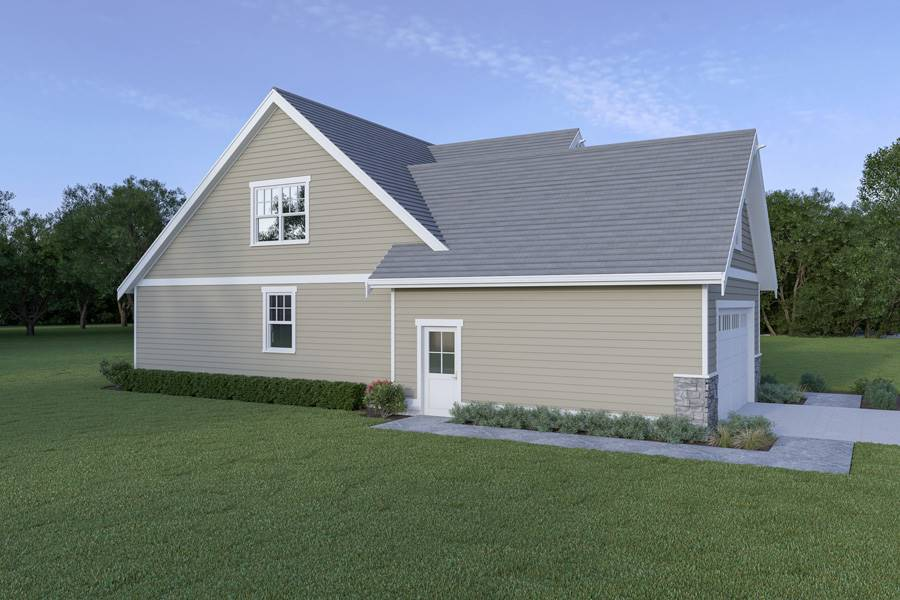 Left View image of Craftsman 305 House Plan