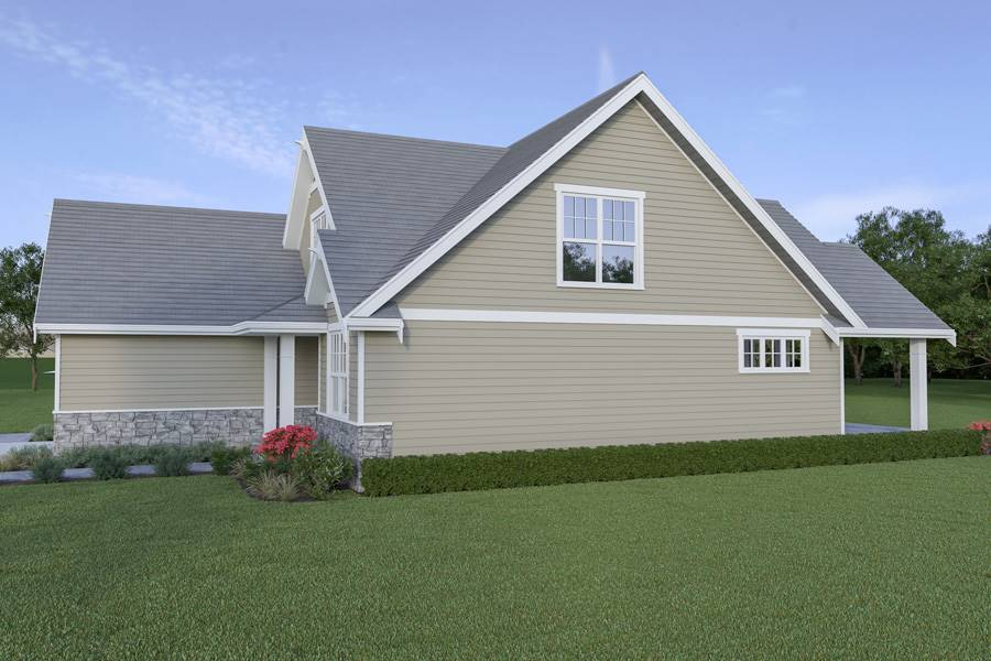 Right View image of Craftsman 305 House Plan