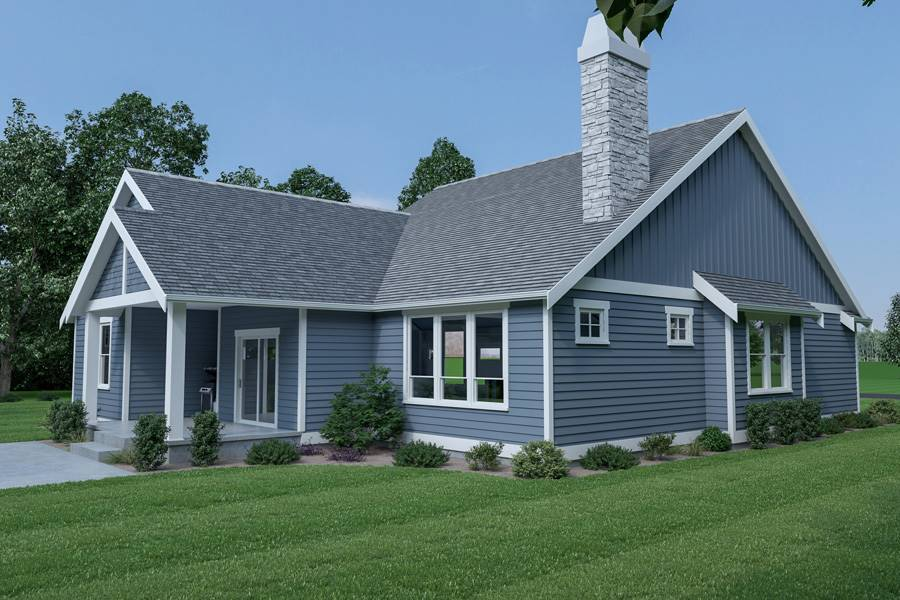Left View image of Craftsman 312 House Plan