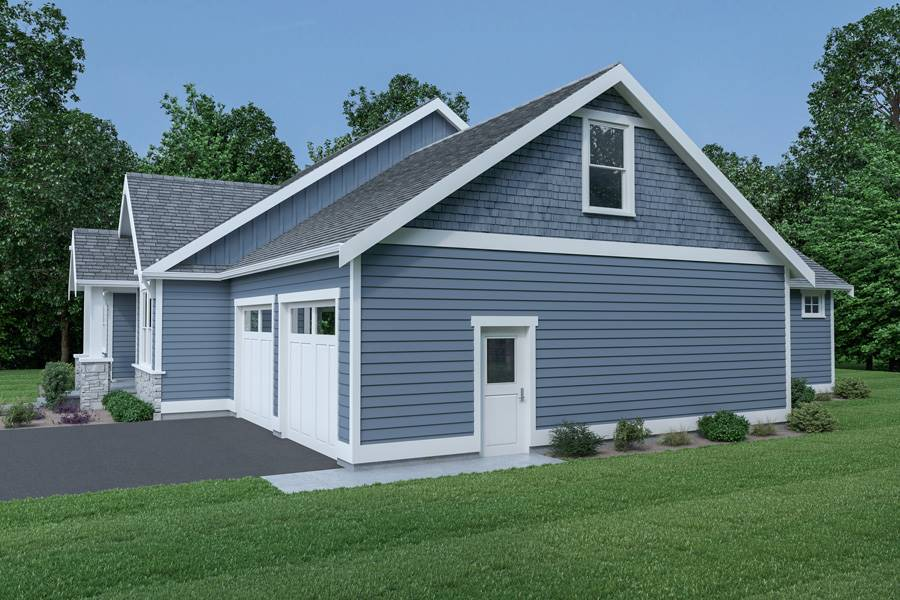 Right View image of Craftsman 312 House Plan