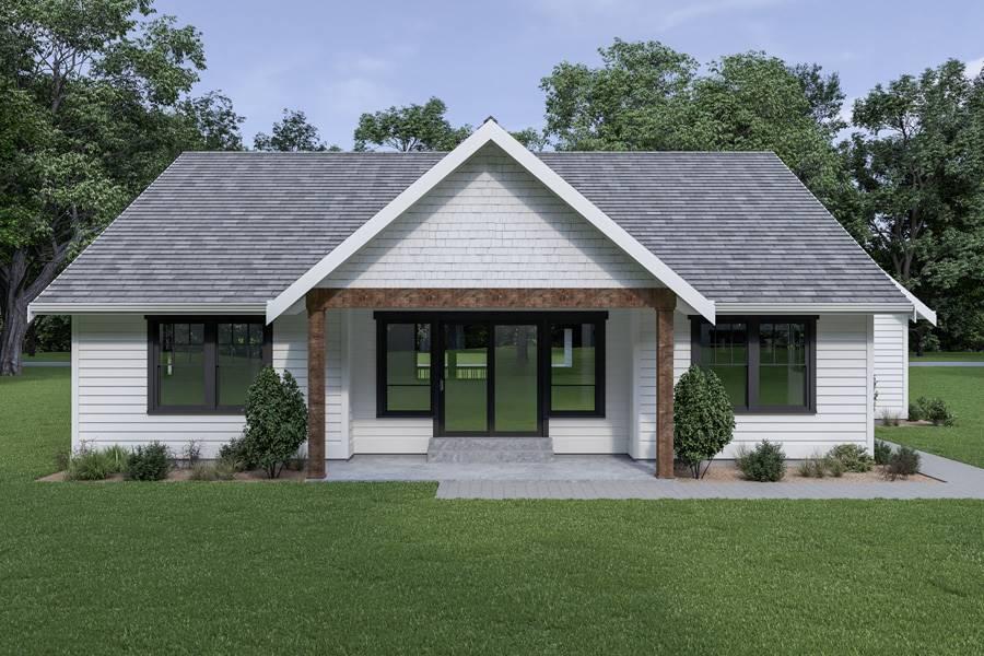 Rear View image of Craftsman 306 House Plan