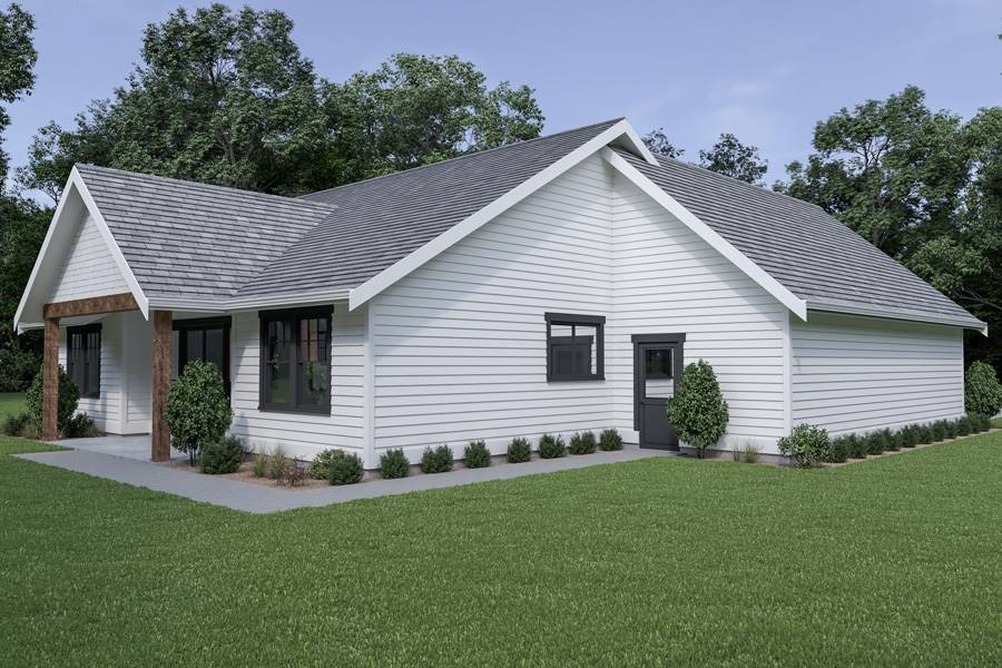 Left View image of Craftsman 306 House Plan