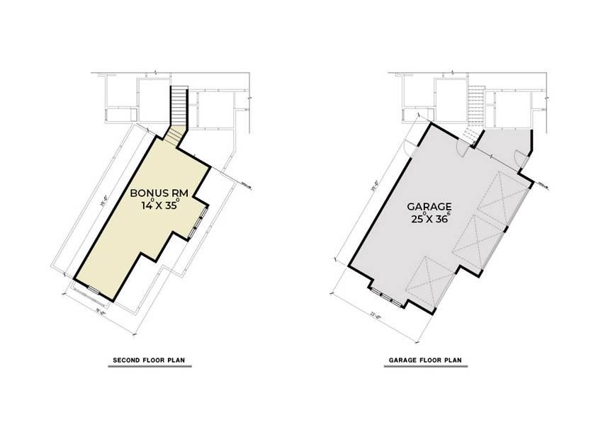 Garage and Bonus Plan image of Northwest 622 House Plan