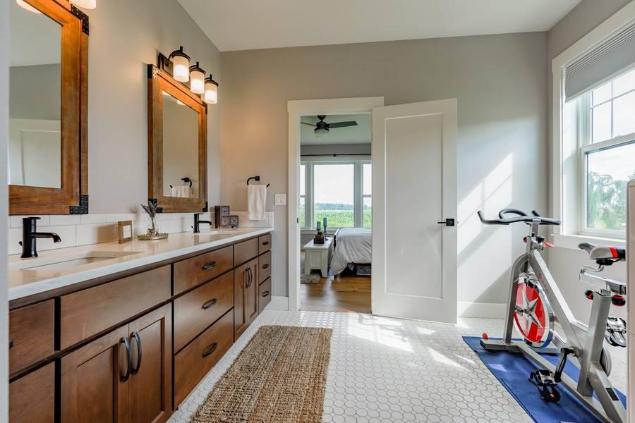 Master Bath image of Cont. Farmhouse 845 House Plan