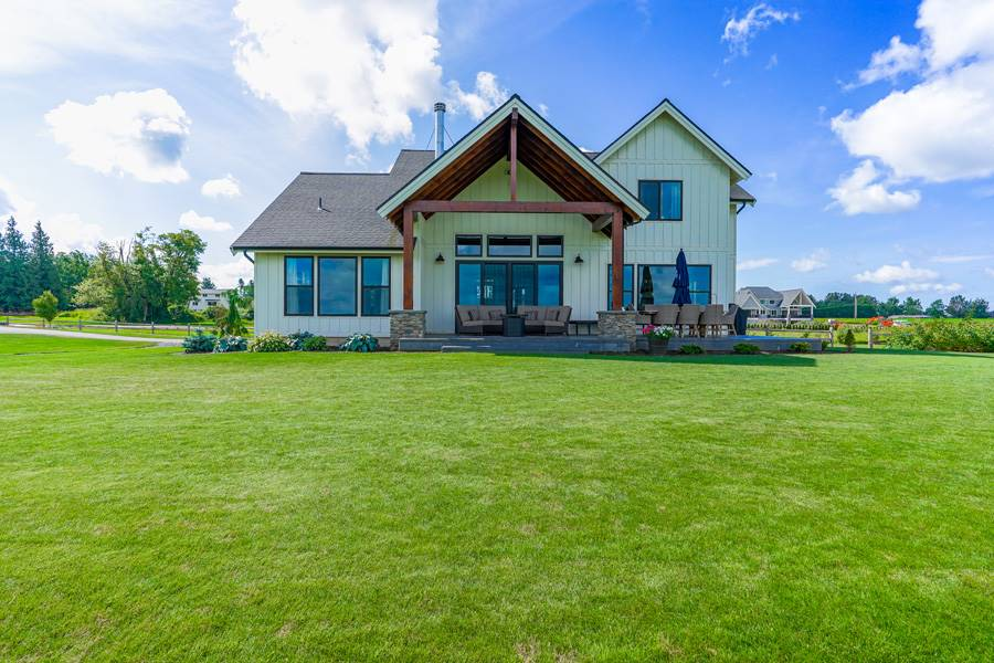 Rear View image of Cont. Farmhouse 845 House Plan