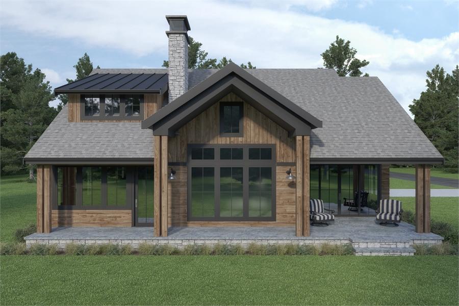 Rear View image of Craftsman 392 House Plan
