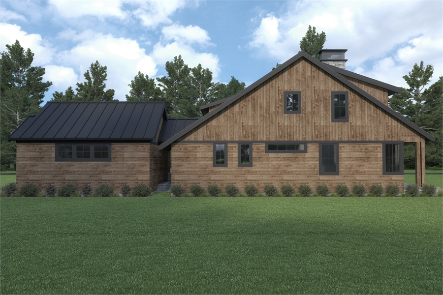 Side View image of Craftsman 392 House Plan
