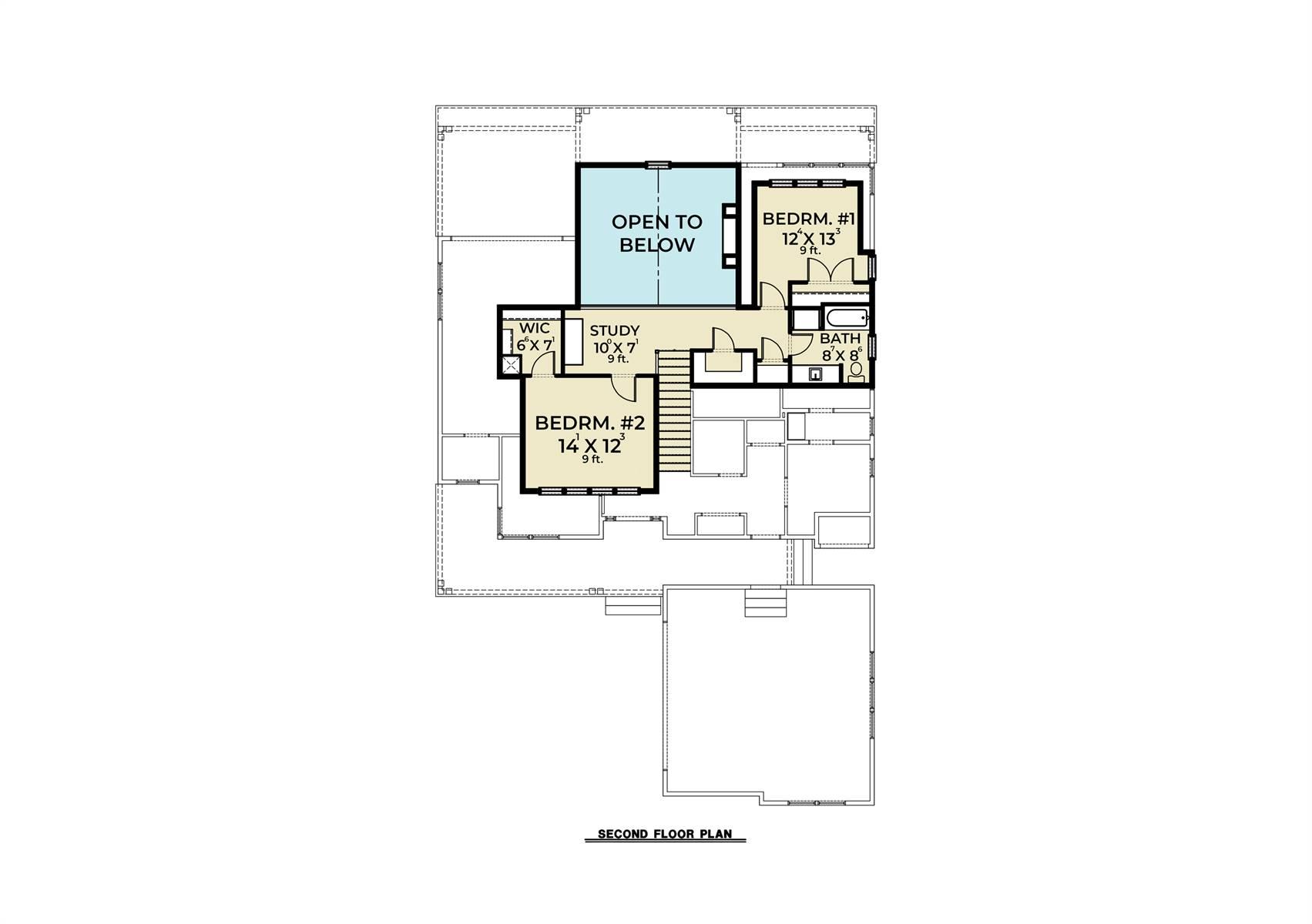 2nd Floor image of Craftsman 392 House Plan