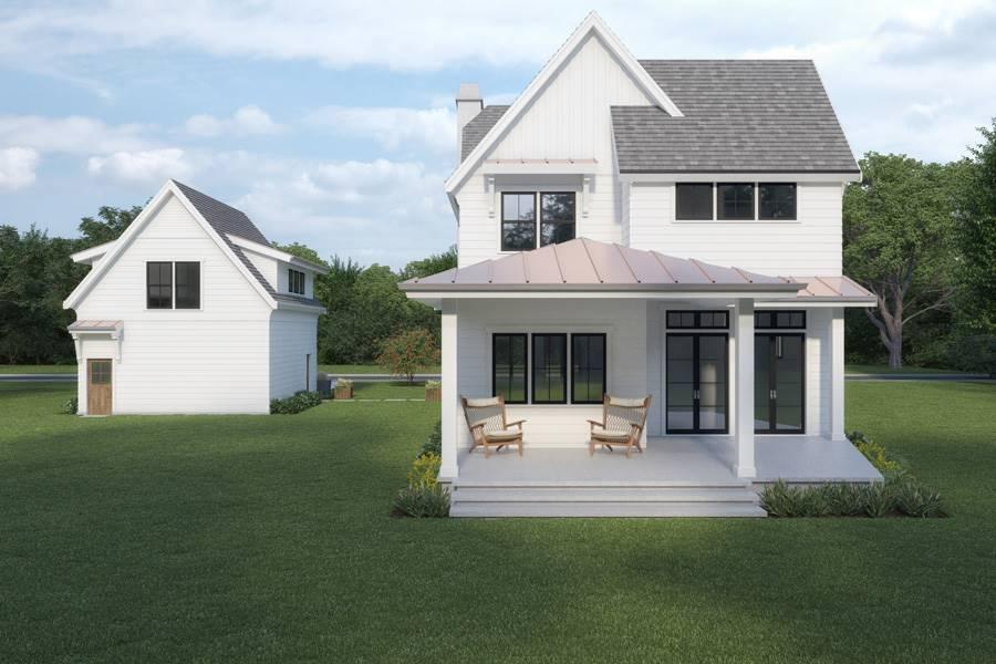 Rear View image of Farmhouse 905 House Plan