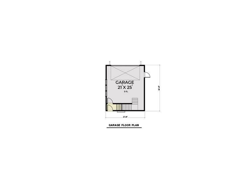Detached Garage image of Farmhouse 905 House Plan