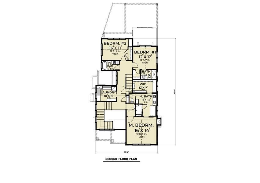 2nd Floor image of Farmhouse 905 House Plan