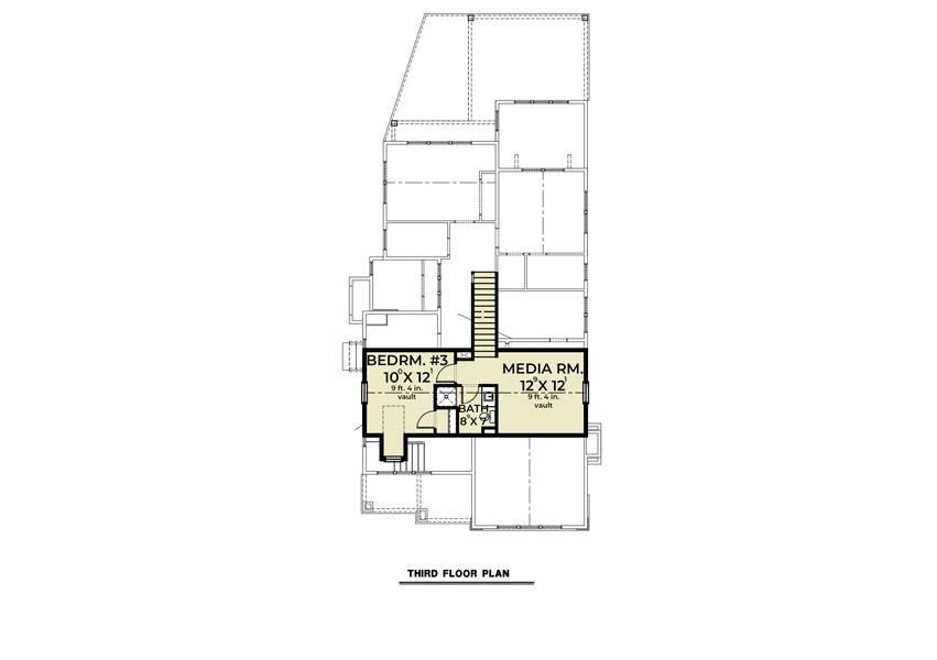 3rd Floor image of Farmhouse 905 House Plan